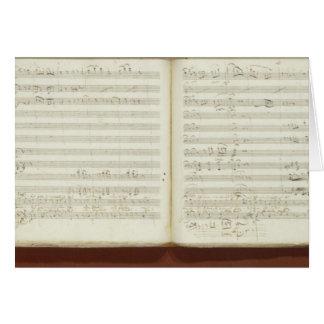 Copia manuscrita 'del Flute mágico Tarjeta De Felicitación