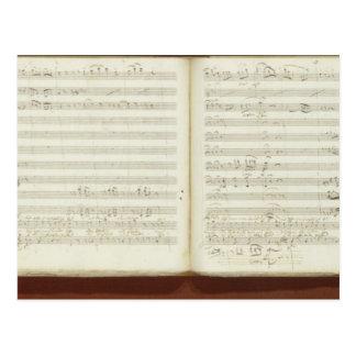 Copia manuscrita del Flute mágico Postal