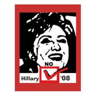 copia nohillary, Hillary, '08 Tarjeta Postal