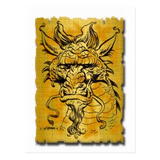 Copia principal del dragón tarjetas postales