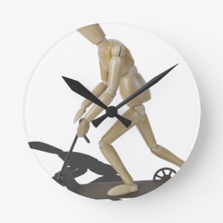 Copia RidingScooter081914 Reloj Redondo Mediano