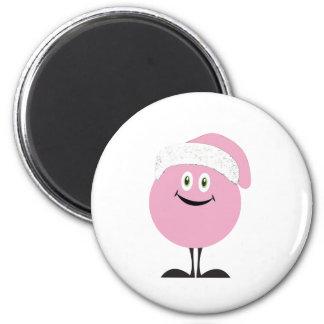 copia rosada del gorra del ornamento imanes