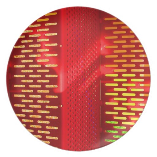 Copia saturada extracto amarillo rojo de las escal plato de cena