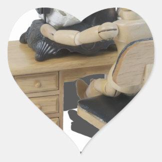 Copia SewingUpClothing082414 Pegatina En Forma De Corazón