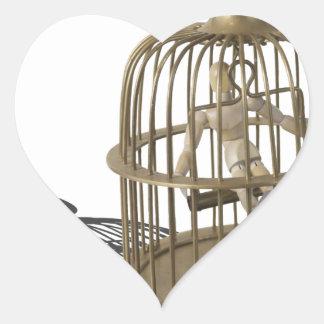 Copia SingLikeCanary080214 Pegatina En Forma De Corazón