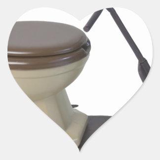 Copia ToiletOnWheels082414 Pegatina En Forma De Corazón