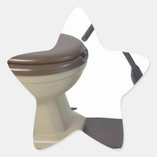 Copia ToiletOnWheels082414 Pegatina En Forma De Estrella