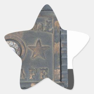 Copia VintageSafeMoneyStorage082414 Pegatina En Forma De Estrella