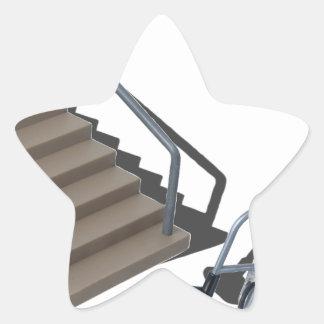 Copia WheelchairAndStairs080214 Pegatina En Forma De Estrella