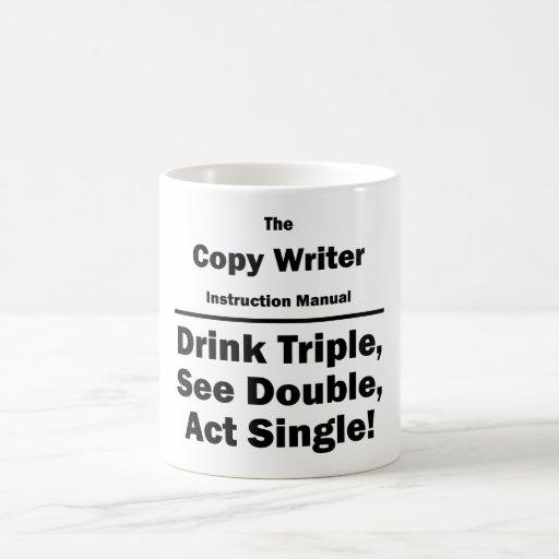 copie al escritor taza básica blanca
