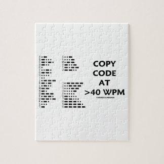 Copie el código en >40 WPM (el código Morse Puzzle Con Fotos