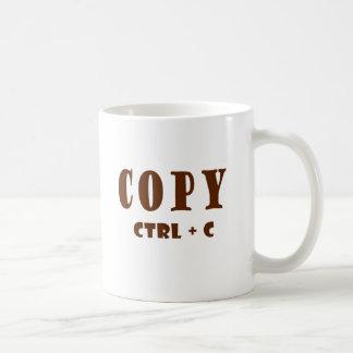 Copie el documento de la hoja de balance taza básica blanca