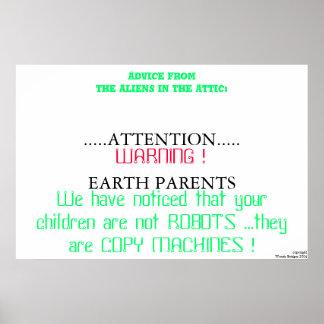 copie las máquinas póster