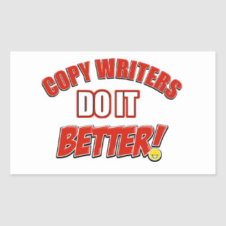 Copie los diseños de los escritores pegatina rectangular