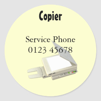 Copier service sticker