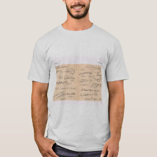 Copies of signatures of famous people T-Shirt