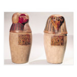 Copies of two New Kingdom canopic jars Post Card