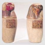 Copies of two New Kingdom canopic jars Stickers