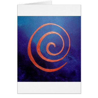 Copilot by spiral on Deep Blue - Philip Bowman Des Greeting Card