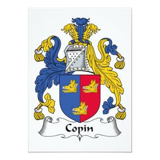 """Copin Family Crest 5"""" X 7"""" Invitation Card"""