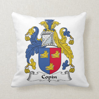 Copin Family Crest Pillow