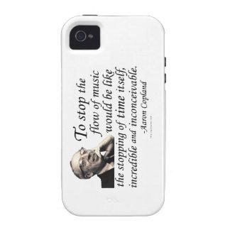 Copland en música iPhone 4 funda
