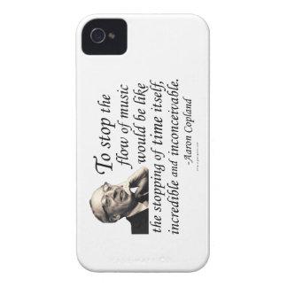 Copland en música iPhone 4 carcasas