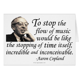 Copland on Music Greeting Card
