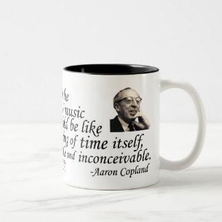 Copland on Music Two-Tone Coffee Mug