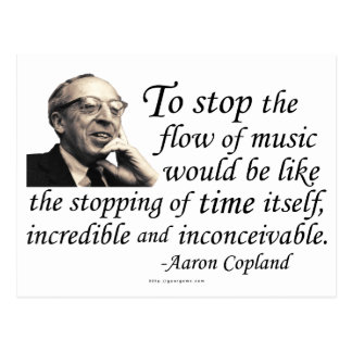 Copland on Music Post Card