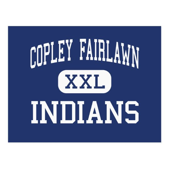 Copley Fairlawn Indians Middle Copley Ohio Postcard