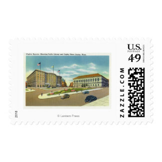 Copley Plaza and Square View of the Public Postage