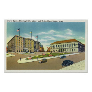 Copley Plaza and Square View of the Public Poster