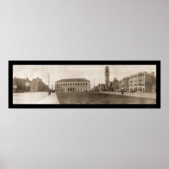 Copley Square Boston Photo 1910 Poster