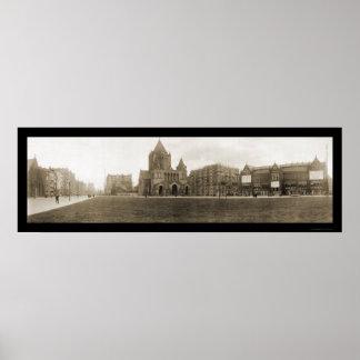 Copley Square MA Photo 1910 Poster