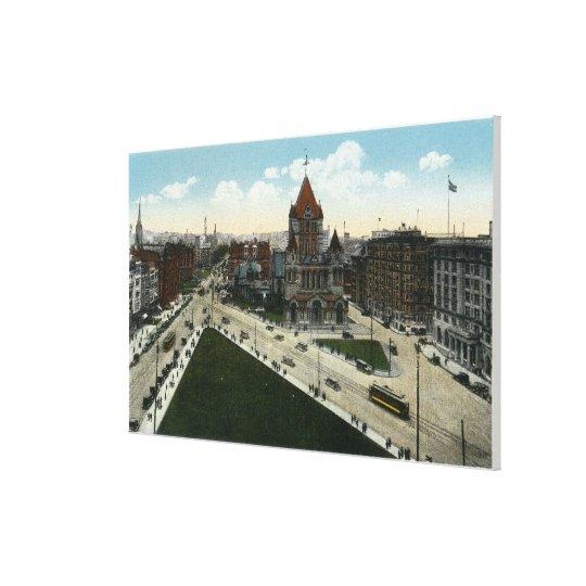 Copley Square View of Trinity Church Canvas Print