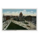 Copley Square View of Trinity Church Poster
