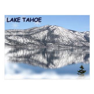 Copo de nieve 1 del lago Tahoe Postal