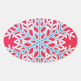 Copo de nieve 3 calcomanías ovales