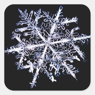 Copo de nieve 9 pegatina cuadrada