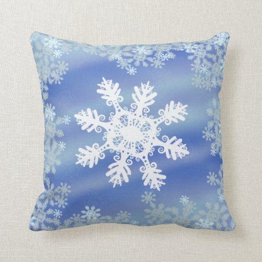 Copo de nieve almohadas