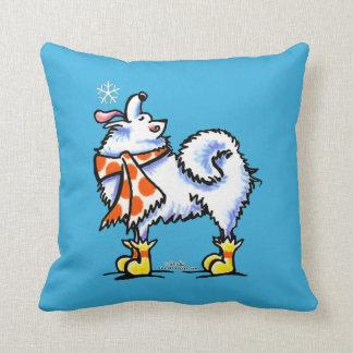 Copo de nieve americano del perro esquimal del sam almohadas