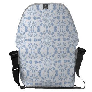 Copo de nieve azul bolsas de mensajeria