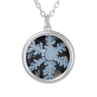 Copo de nieve azul joyería
