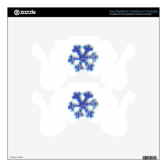 Copo de nieve azul de la gota skins para mandos PS3