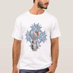 Copo de nieve azul de Olaf el | Playera