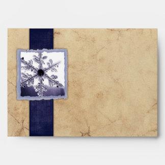 Copo de nieve azul del invierno del vintage