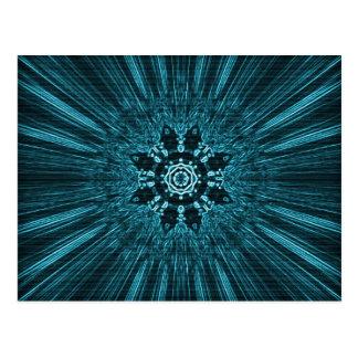 Copo de nieve azul del invierno que brilla tarjetas postales