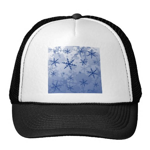 Copo de nieve azul gorro de camionero