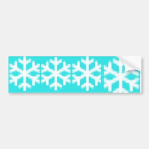 Copo de nieve azul grande etiqueta de parachoque